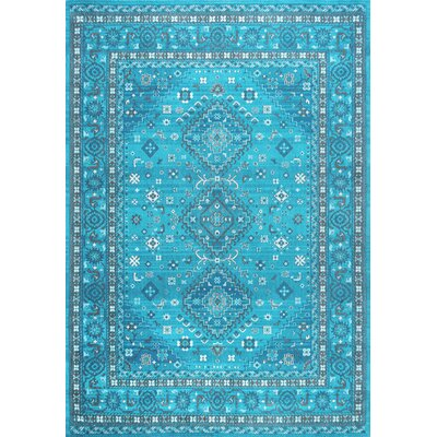Venetia Cotton Blue Area Rug Rug Size: Rectangle 7 6 x 9 6