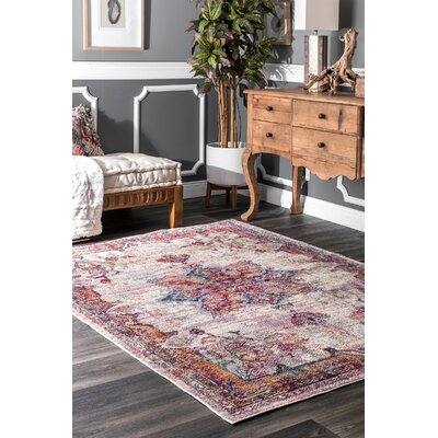 Valkenburg Orange/Beige Area Rug Rug Size: Rectangle 5 3 x 7 7