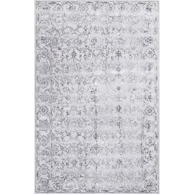Maryam Hand-Tufted Wool Dark Gray Area Rug Rug Size: Rectangle 7 6 x 9 6