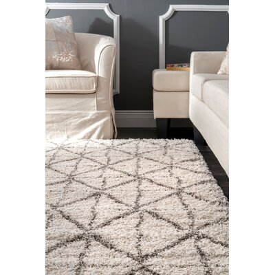 Oscoda Ivory Area Rug Rug Size: Rectangle 7 6 x 9 6