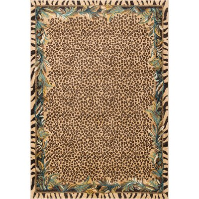 Ulus Beige/Brown Area Rug Rug Size: Rectangle 8 x 10