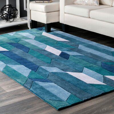 Lilyanna Blue Area Rug Rug Size: 86 x 116