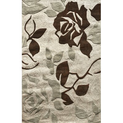 Allure Hand-Tufted Beige Area Rug Rug Size: Rectangle 5 x 8