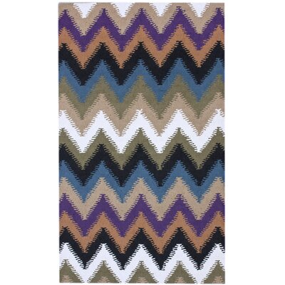 Courtney Zig Zag Multi Rug Rug Size: 5 x 8