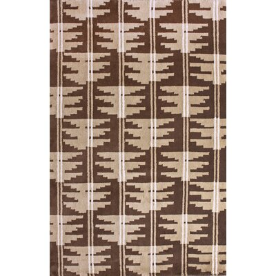 Indo-Nepal Adam Hand-Knotted Wool Brown Area Rug Rug Size: Rectangle 76 x 96