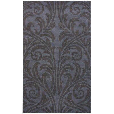 Moderna Tuscano Mona Hand-Tufted Wool Gray Area Rug Rug Size: Rectangle 76 x 96