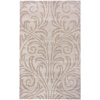 Moderna Tuscano Mona Hand-Woven Wool Beige Area Rug Rug Size: Rectangle 76 x 96