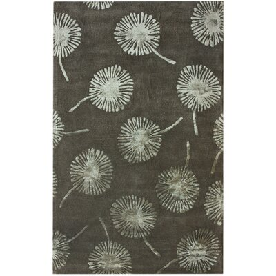 Hudson Dandelion Mushroom Hand-Tufted Black/Gray Area Rug Rug Size: Rectangle 76 x 96