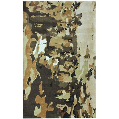 Hudson Splatter Army Hand-Tufted Green Area Rug Rug Size: Rectangle 76 x 96