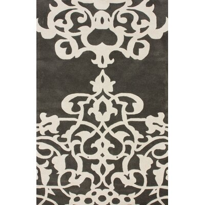 Bella Novara Pewter/White Area Rug Rug Size: Rectangle 3 x 5