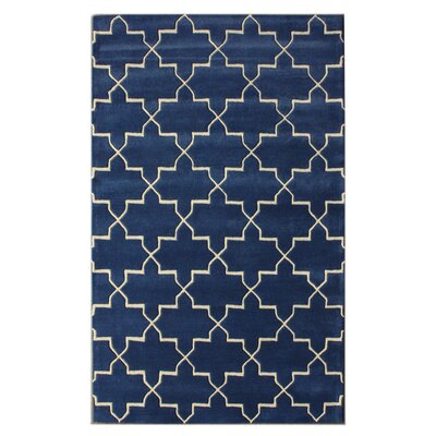 Bella Marrakesh Moroccan Trellis Blue Rain Area Rug Rug Size: Rectangle 83 x 11