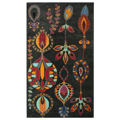 Bella Hand-Tufted Wool Charcoal Area Rug Rug Size: Rectangle 76 x 96