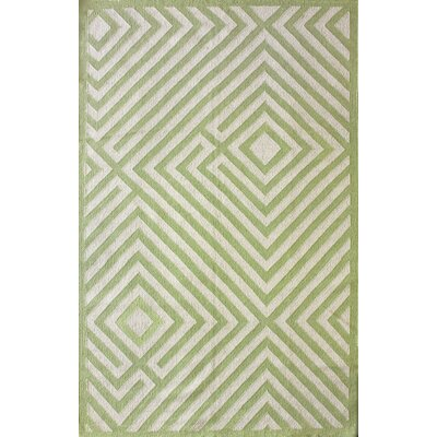Couture Kilim Diamond Green Rug Rug Size: 5 x 8