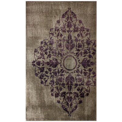 Couture Hand-Knotted Wool Gray Area Rug Rug Size: Rectangle 5 x 8