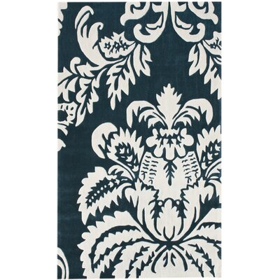 Alice Hand Tufted Teal Area Rug Rug Size: Rectangle 76 x 96