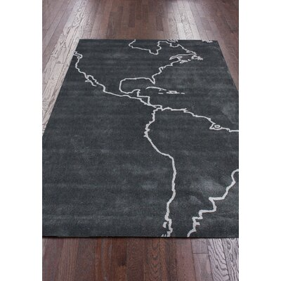 Cine Gray Map Novelty Outdoor Area Rug Rug Size: 5 x 8