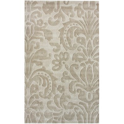 Cine Hand-Tufted Beige Area Rug Rug Size: Rectangle 6 x 9
