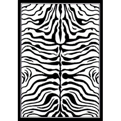 "nuLOOM Zebra Print Black/White Area Rug - Rug Size: 7'10"" x 10'10"" at Sears.com"
