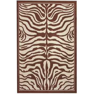 Safari Brown Area Rug Rug Size: Rectangle 53 x 79