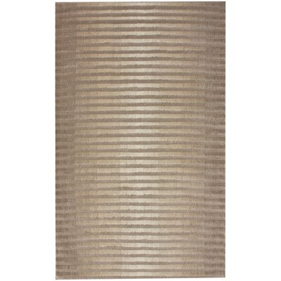 Flaminco Ameixa Hand-Woven Wool Taupe Area Rug Rug Size: Rectangle 7'6