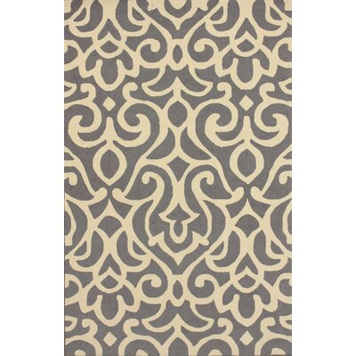 Chelsea Atlantic Damask Grey Rug Rug Size: 76 x 96