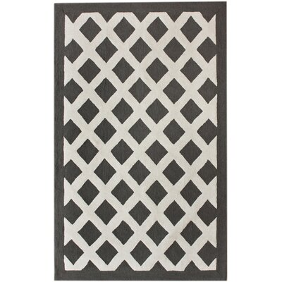 Marrakesh Konico Hand-Tufted Black/Gray Area Rug Rug Size: Rectangle 5 x 8