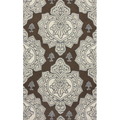 Marrakesh Hillcrest Hand-Tufted Cocoa Area Rug Rug Size: Rectangle 5 x 8