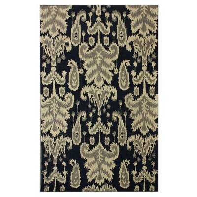 Marbella Verden Hand-Tufted Wool Navy Area Rug Rug Size: Rectangle 5 x 76