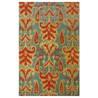 Marbella Hand-Tufted Teal Area Rug Rug Size: Rectangle 76 x 96