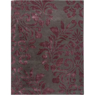 Havana Hand-Tufted Burgundy Area Rug Rug Size: Rectangle 5 x 8