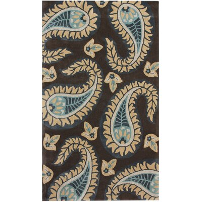 Modella Floral Paisley Hand-Tufted Brown/Tan Area Rug Rug Size: Rectangle 76 x 96