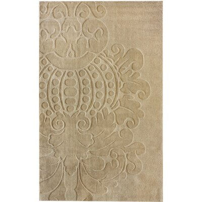 Marbella Hand-Woven Wool Ivory Area Rug Rug Size: Rectangle 76 x 96