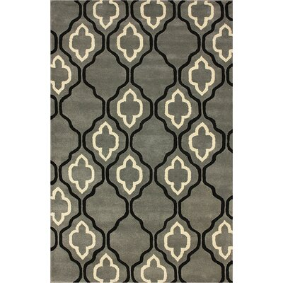 Moderna Hand-Woven Wool Titanium Area Rug Rug Size: Rectangle 83 x 11