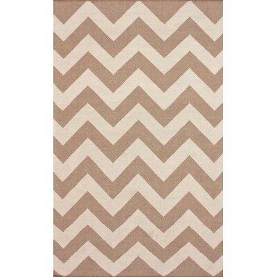 Marbella Chevron Sand Kilim Area Rug Rug Size: Rectangle 76 x 96