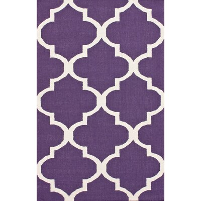 Marbella Hand-Woven Wool Purple Area Rug Rug Size: Rectangle 5 x 8