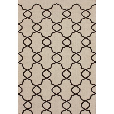 Marbella Elmer Cream Kilim Rug Rug Size: Rectangle 76 x 96