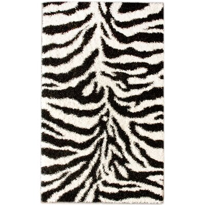 nuLOOM Shaggy Zebra Black/White Area Rug - Rug Size: 8' x 10'