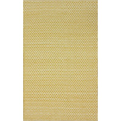 Keen Hand-Woven Cotton Lemon Curry Area Rug Rug Size: Rectangle 5 x 8