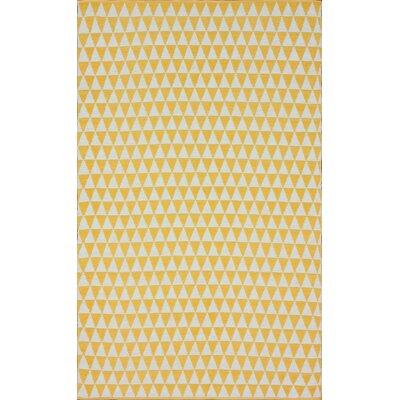 Keen Hand-Woven Yellow Area Rug Rug Size: 8 x 10