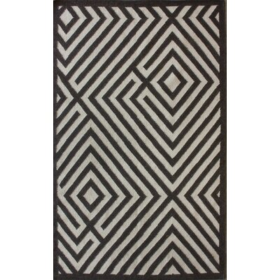 Gelim Brown Geometric Diamond Area Rug Rug Size: 5 x 8