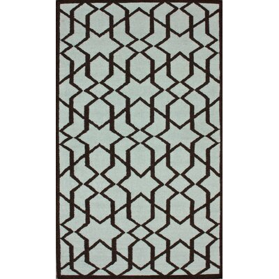 Gelim Trellis Light Blue Geometric Area Rug Rug Size: Rectangle 5 x 8