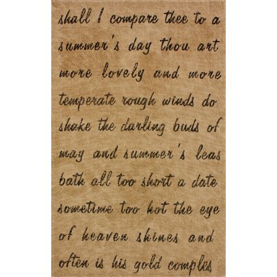 nuLOOM Natura Natural Script Poem Novelty Rug - Rug Size: 5' x 8' at Sears.com