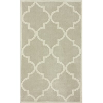 Trellis Neutral Area Rug Rug Size: Runner 26 x 10