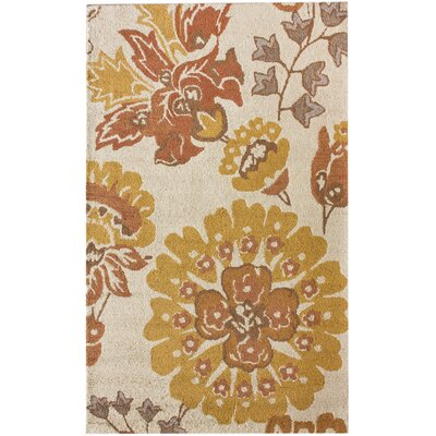 Modella Hand-Tufted Wool Beige Area Rug Rug Size: Rectangle 5 x 8