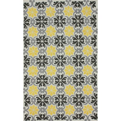 Fergie Hand-Tufted Yellow Area Rug Rug Size: Rectangle 6 x 9