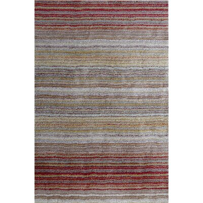 Cine Hand-Tufted Red/Brown Area Rug Rug Size: 6 x 9