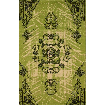 Natural Kolor Hand-Woven Lime Area Rug Rug Size: Rectangle 5 x 8