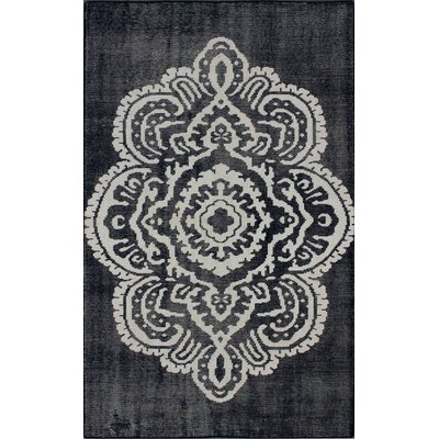 Overdye Hand-Knotted Wool Navy Area Rug Rug Size: Rectangle 5 x 8