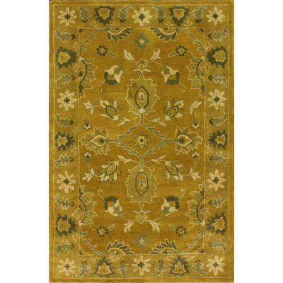 Overdye Hand-Tufted Wool Yellow Area Rug Rug Size: Rectangle 8 x 10
