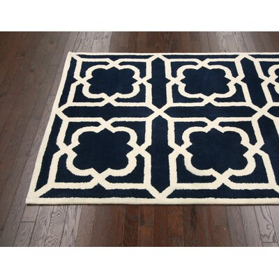 Moderna Hand-Tufted Navy Area Rug Rug Size: Rectangle 3 x 5